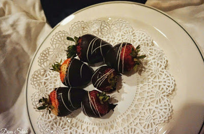 Lush chocolate-coated strawberries