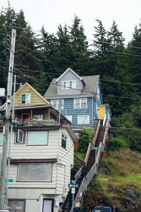 The staircase streets of Ketchikan