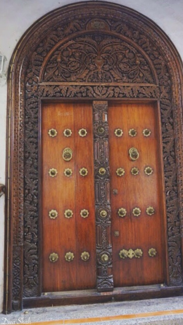 An intricately-designed door - a common sight in Stone Town