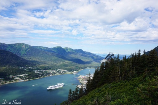 The view from the top of Mount Roberts