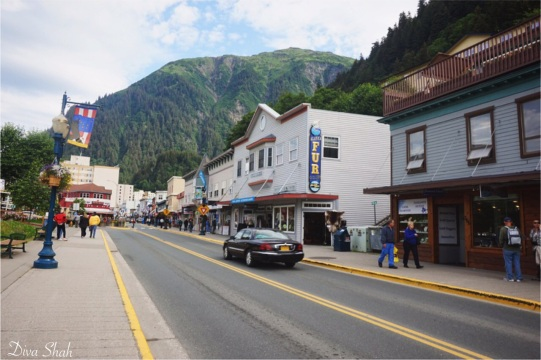 Walking through Juneau