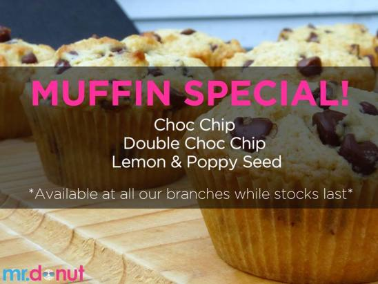 They also just added muffins to their menu: choc chip, double choc chip and lemon poppy seed.