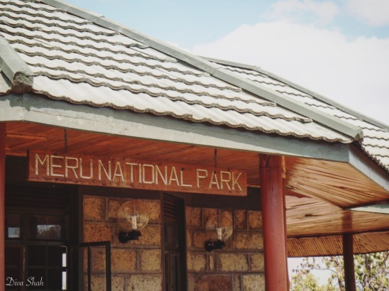 Entrance to the Meru National Park