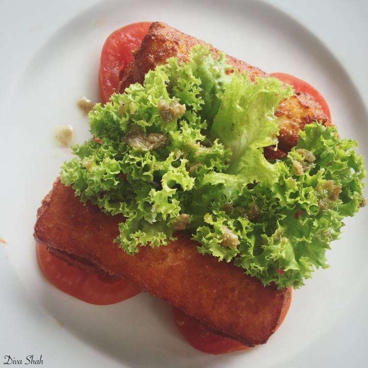 The halloumi salad